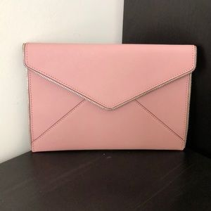 Rebecca Minkoff Pink Envelope Clutch